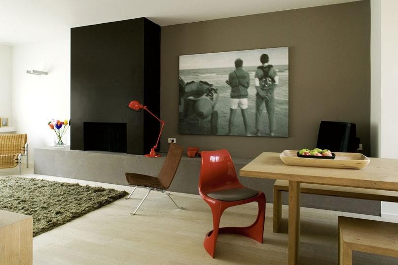 Decoratie muur en plafond inspirerende kleuren in huis - Muur decoratie eetkamer ...