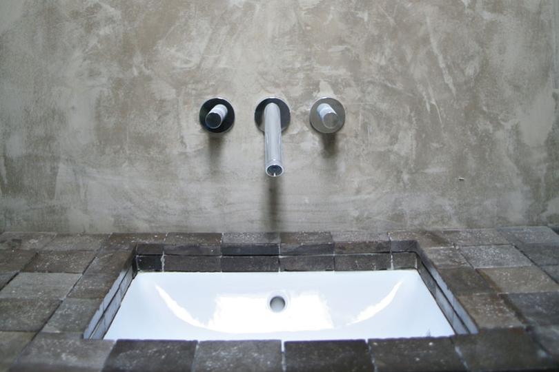 Decoratie muur en plafond stucwerk nieuwe stijl - Waterafstotend badkamer ...