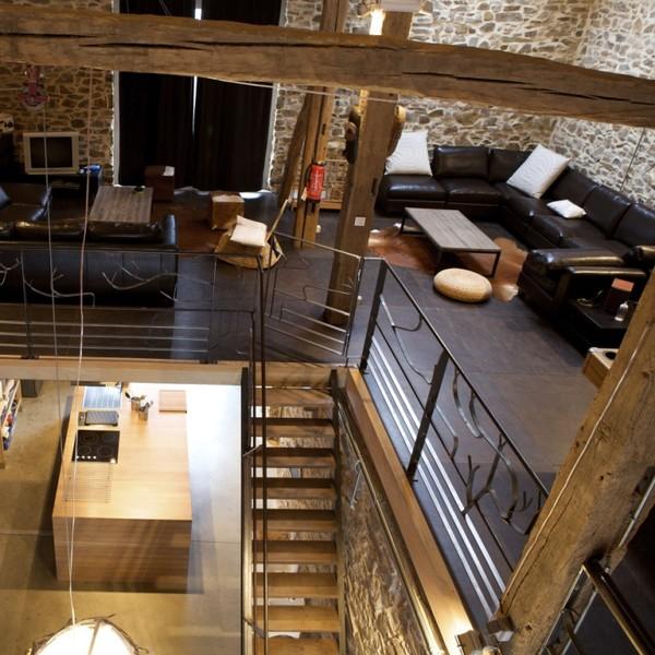 authentique grange am nag e en style loft la roche en ardenne immoweb ref 2371379. Black Bedroom Furniture Sets. Home Design Ideas