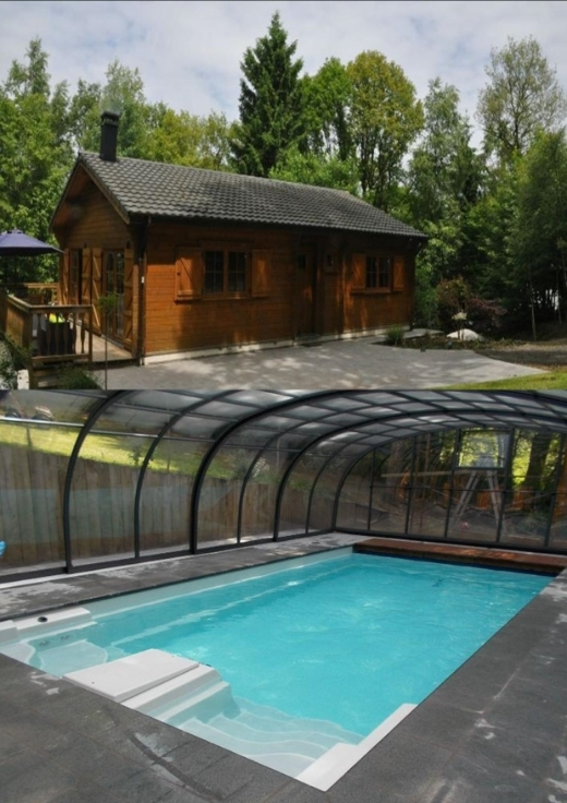 Chalet d 39 exception au coeur de la for t avec piscine for Camping ardennes belges avec piscine