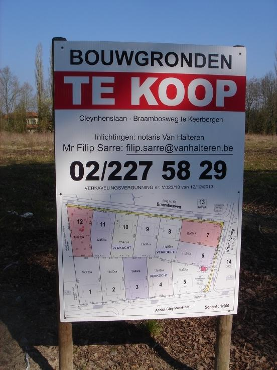 Terrain à bâtirà vendre àKeerbergen au prixde 250.000 €- (5784452)