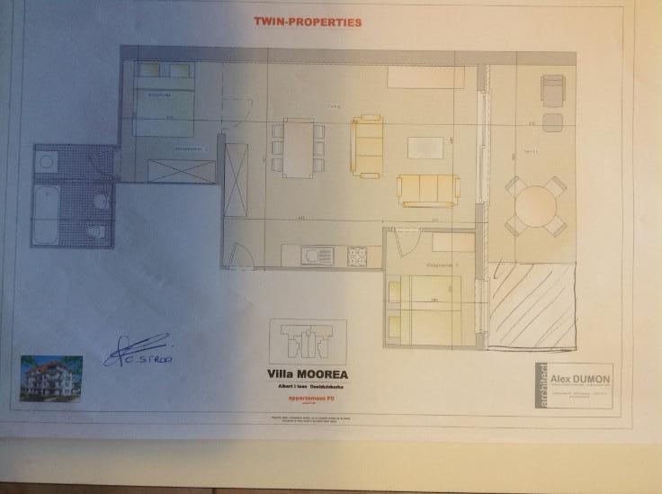 Appartement van 2gevels te huurte Oostduinkerke voor550 € -(6254623)