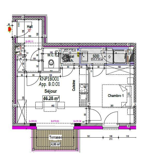 Appartement van 2gevels te huurte Arlon voor650 € -(6465666)