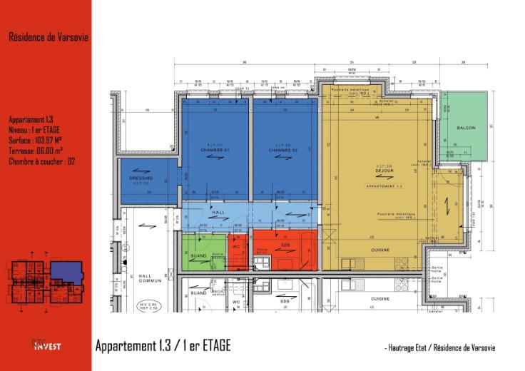 Appartement van 2gevels te huurte Tertre voor730 € -(6534430)