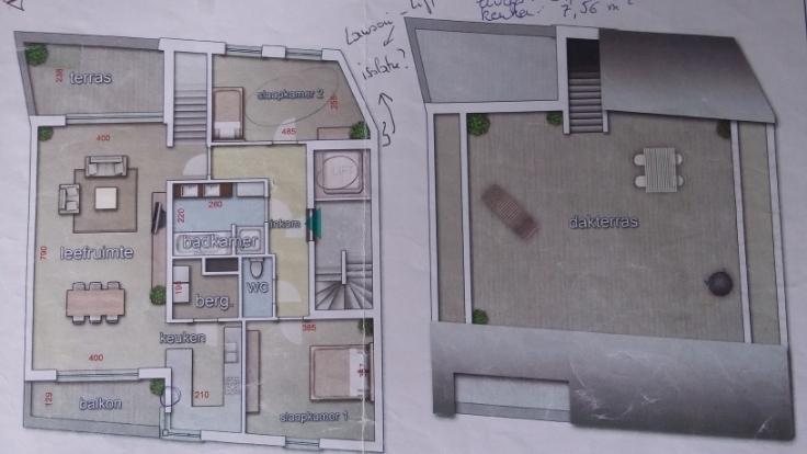 Appartement van 2gevels te huurte Gand voor875 € -(6543534)