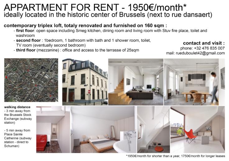 Appartement van 2gevels te huurte Bruxelles villevoor 1.950 €- (6543568)