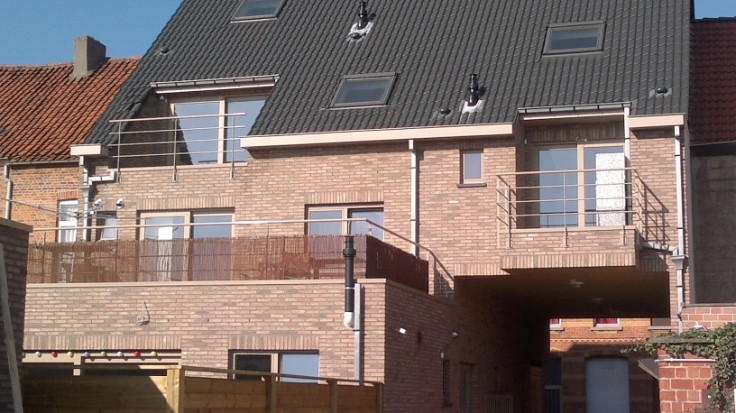 Appartement van 2gevels te huurte St-Nicolas voor645 € -(6623651)