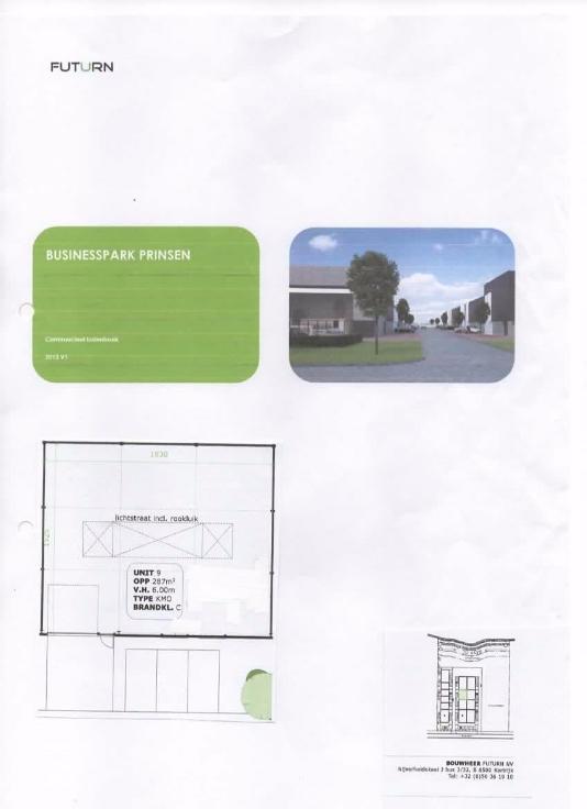 Immeuble industriel van1 gevel tehuur te Tongresvoor 13.200 €- (6633601)