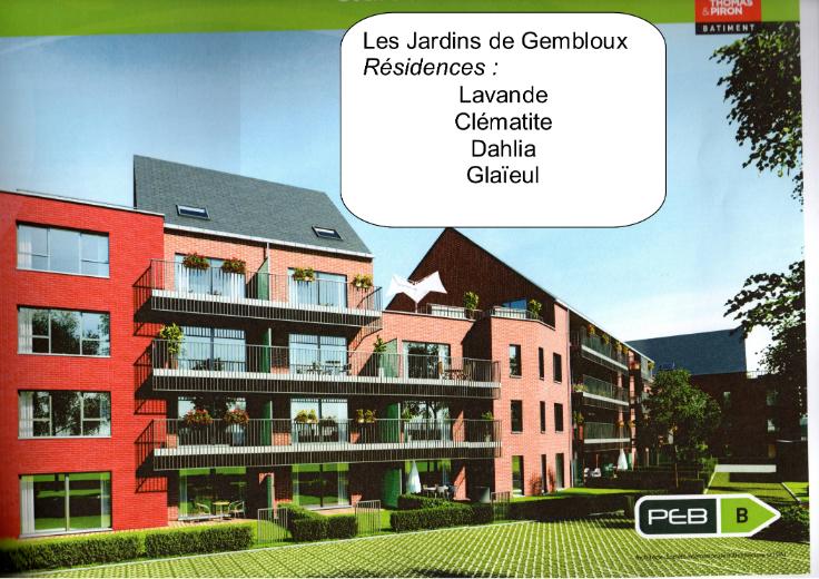 Appartement de 2façades à louerà Gembloux auprix de 795€ - (6694609)
